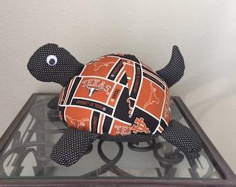Texas Longhorns Handmade Stuffed Turtle
