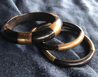 Horn and brass bangles