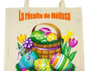 cotton Easter tote bag