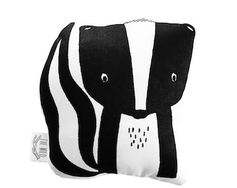 Sawyer the Skunk Soft Toy Pillow by The Wild - Stuffed Toy, Plushie, Stuffed Animal, Baby Toy, Skunk Plush, Baby Stuffed Toy