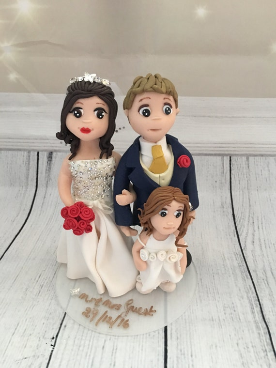 Family Themed Wedding Cake Topper - Keepsake - Highly detailed and fully sculpted