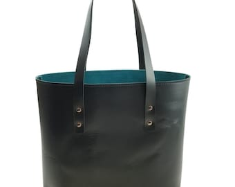 Lexington Classic Leather Tote in Black Excel Leather / Lined with Suede - Medium