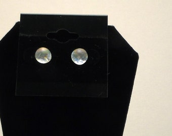Fused Glass Clear Iridescent Dichroic Post Earrings