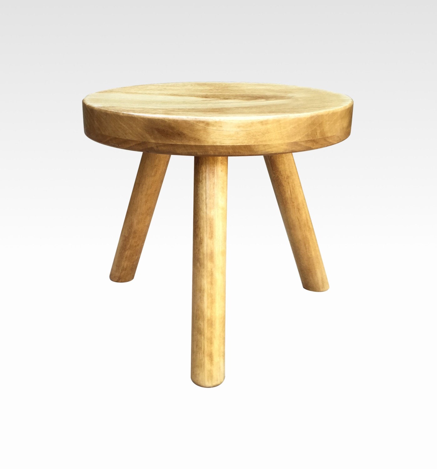 Three Legged Stool ~ Small wood three legged stool modern plant stand choose