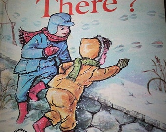 Who goes there-Vintage children's book-wonder book-1961-childrens story book-vintage kids book-Janet and Alex D'amato-animal book