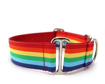 """1.5"""" Somewhere... martingale or buckle dog collar"""
