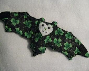 St. Patrick's Day Bat - Cup Sleeve/Cozie/Stuffed Animal