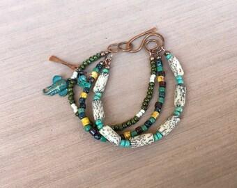 An Elephant from Sedona? 3 strand bracelet BR014