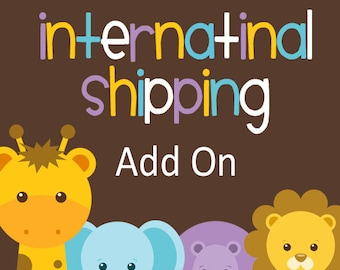 International Shipping Add On for Printed Invitations