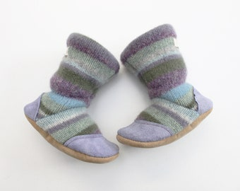 Baby booties, baby shoes, wool slippers, Baby girl slippers, baby moccasins, slipper boots, felted slippers, felted shoes, organic, 12-18m