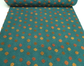 Fabric. Musterwalk walk relief Brogan 4 petrol green terra orange yellow (35,80 EUR / meter)