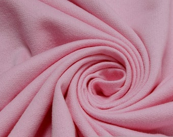 Fabric pure cotton single jersey pink roughened sweatshirt