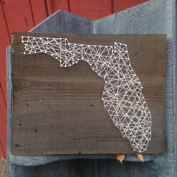 & Florida State String Art Can Be Customized Nail Art Wall