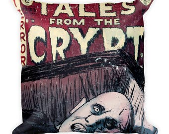 Mr Barlow Salem's Lot Tales From The Crypt Horror Movie Comic Book Mash Up Square Pillow