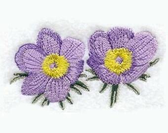 Pasque Flower Tea Towel | Embroidered Kitchen Towel | Kitchen Towel | Personalized Kitchen Gifts | Embroidered Towel | South Dakota Gift