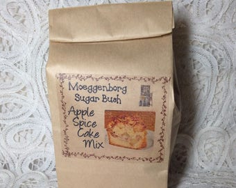 Apple Spice Cake Mix, apple cake mix, Spice cake, cake mix,  Moeggenborg Sugar Bush
