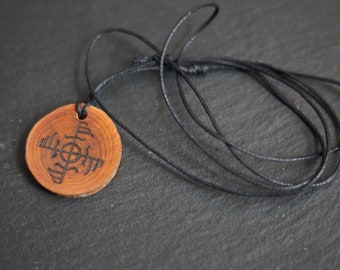 Wooden Ginfaxi Pendant