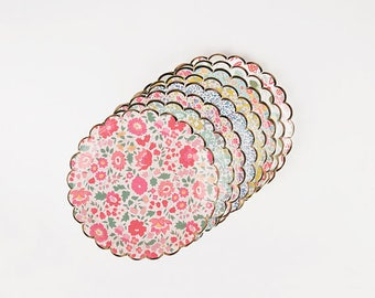 SMALL Floral Paper Plates | Baby Shower Plates | Flower Party | Floral Bridal Shower | Garden Party Decor | Tea Party | Liberty Plates