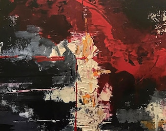 The Red Parade - Print of Abstract Painting