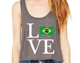 Love Brazil  Womens Tops Boxy