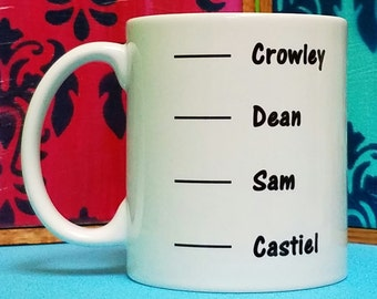 When Is It Safe To Talk Mug (Supernatural Themed)