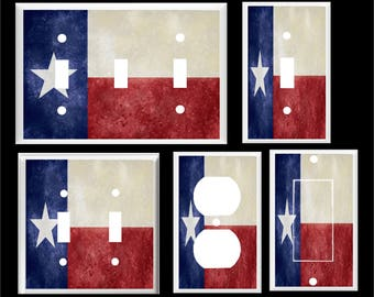 Texas State Flag  Light Switch Cover Plate or Outlet   Home  Decor  Free Shipping in U.S.!!!  You pick plate size