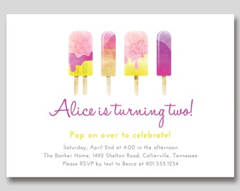 Popsicle Birthday Invitation - Custom DIY Printable