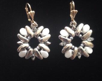 "DIY Kit Creativeset Earrings ""Rocket"" in White-silver (1)"