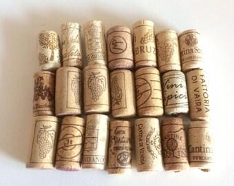 Italienischen Wein Korken, 50 verwendet alle Naturkorken Wein, Handwerk Korken, Hochzeit Wein Korken, Wein Kork liefern, Hochzeitsdekorationen, Tappi di sughero