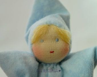 Small Waldorf doll. Baby gnome. First baby doll. Waldorf baby doll. Soft cuddle pocket doll.