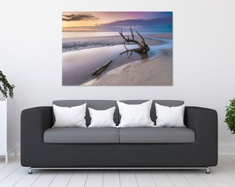 Driftwood Pastel Sunset Photo Print | Wall Art | Nature and Landscape Photography | (5x7, 8x10, 12x18, 16x24, 20x30, 24x36, 40x60)