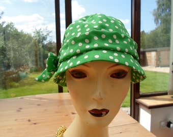 Green spotted hat