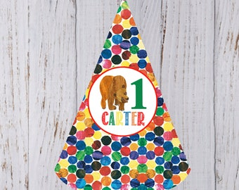 Brown Bear Birthday Party Hat