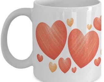 Pretty Heart Mug - Heart Mug - Love Mug - Anniversary Mug