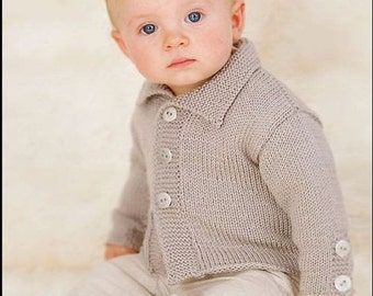 Baby Cardigan made of 100% wool (merino wool)