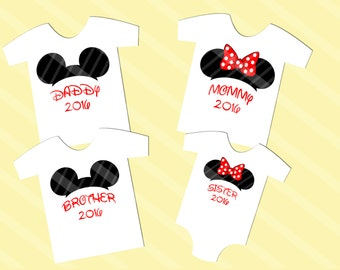 Disney Inspired Family Shirt Images Mickey Mouse Club Ears Digital Download for iron-ons, heat transfer, T-Shirt, Totes, YOU PRINT