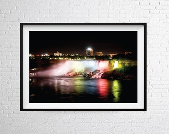 Colourful Waterfall Wall Art Print / Waterfall Print / Photographic Print / Waterfall Poster / Fine Art Photography