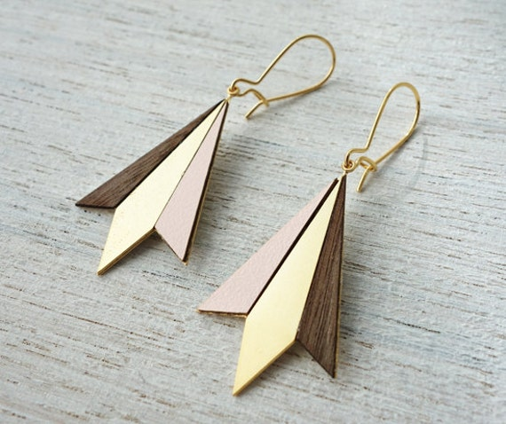 Northern Lights Drop Earrings Scandinavian design geometric