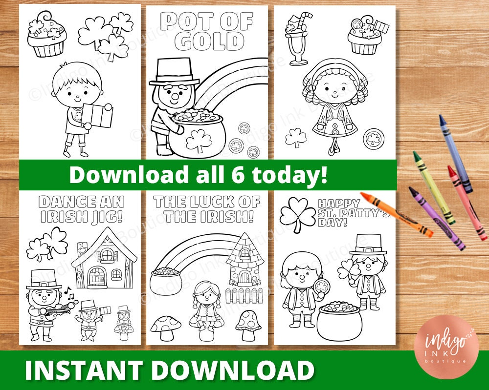 St. Patty\'s Day Coloring Pages for Kids St.