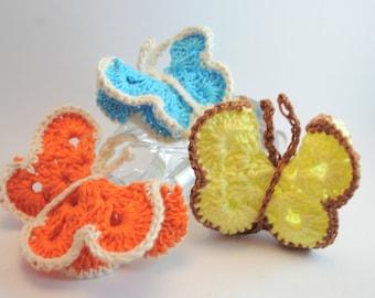 Crochet Colorful Butterflies
