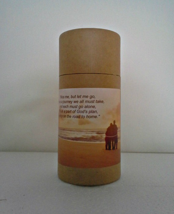 """Eco-Friendly Cremation Urn Scattering Tube w/Telescopic Lid - Natural/Biodegradable - Style """"Serenity"""""""