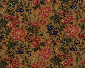 Moda HARVEST HILL Quilt Fabric 1/2 Yard By Kansas Troubles Quilters - Gold 9550 12
