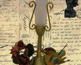 Steampunk Digital Print- Bird