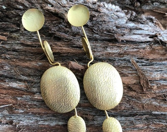 Apollo Handcrafted Gold plated contemporary earrings