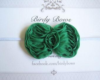 St. Patricks Day Bow Headband, Baby Headbands, Newborn Headbands, Infant Headbands, Baby Girl Bow, Infant Hair Bow,
