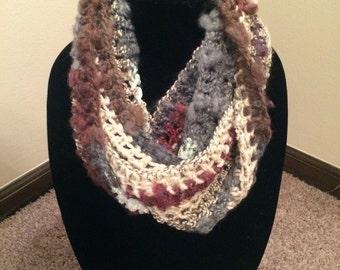 Handmade Crochet Magic Yarn Infinity Scarf (4 Colors Available)