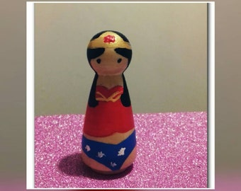 Wonderwoman peg doll