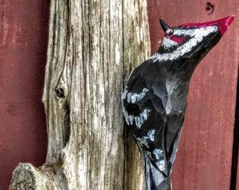 Pileated Woodpecker on Cedar Driftwood Wall Hanging
