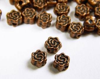 40 Pcs - 5mm Copper Celtic Knot Spacer Beads - Celtic Spacer - Metal Spacer Beads - Jewelry Supplies