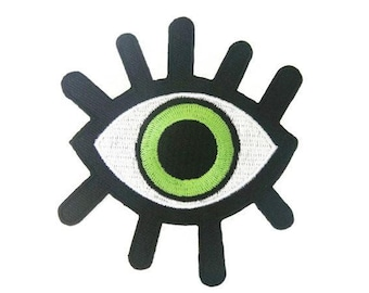 Green Eye Iron On Patch Embroidered Applique